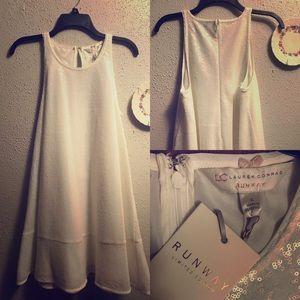 LC Lauren Conrad White Sequin Dress